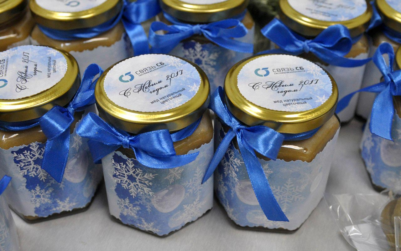 Подарки мед в баночке 146